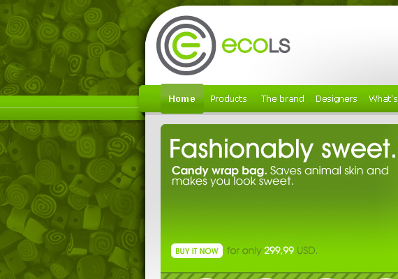 (2009) ECOLS, which stands for Eco Lifestyle, is a physical and online shop that focuses on innovative products made of recycled materials using alternative manufacturing methods. Starting from the idea that e-commerce doesn't have to look unattractive, the open source-based development was combined with a complete and carefully tailor-made graphic language which translated the client's philosophy, business goals, and strategic need of having a strong identity and enjoyable customer experience in both physical and online shops.                                 <br><br><a href = 'http://bit.ly/1Cl3yjT' target='new'>www.ecols.com</a>