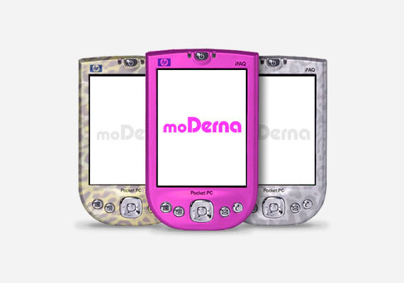 moDerna was a digital/mobile magazine created in partnership with two friends in 2004. It used Wi-Fi (a new technology at the time) to stream digital contents such as videos, music and articles to Pocket PCs located at selected places like luxury hair saloons, restaurants and lounges. Created many years before the first iPhone came out, moDerna pioneered concepts like customized covers for mobile devices, media streaming through wireless, and it was also the first to bring mobile technologies closer to fashion and luxury landscapes. 								<br><br>